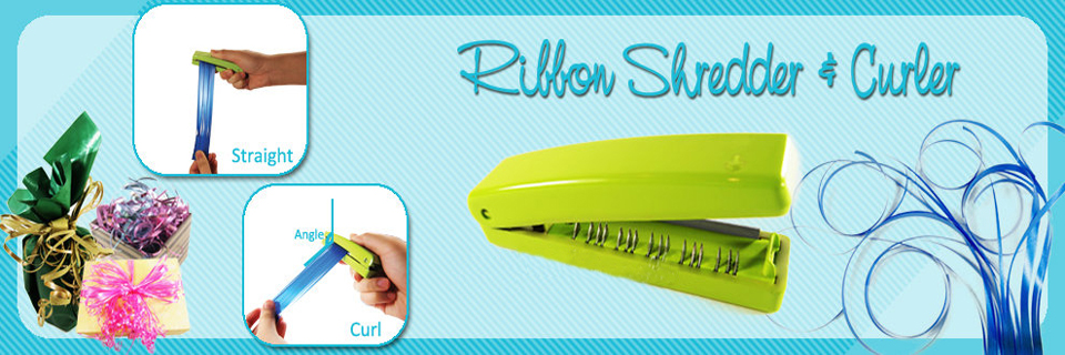 Poly Ribbon Shredder and Curler Tool for Gift Wrapping Decotation